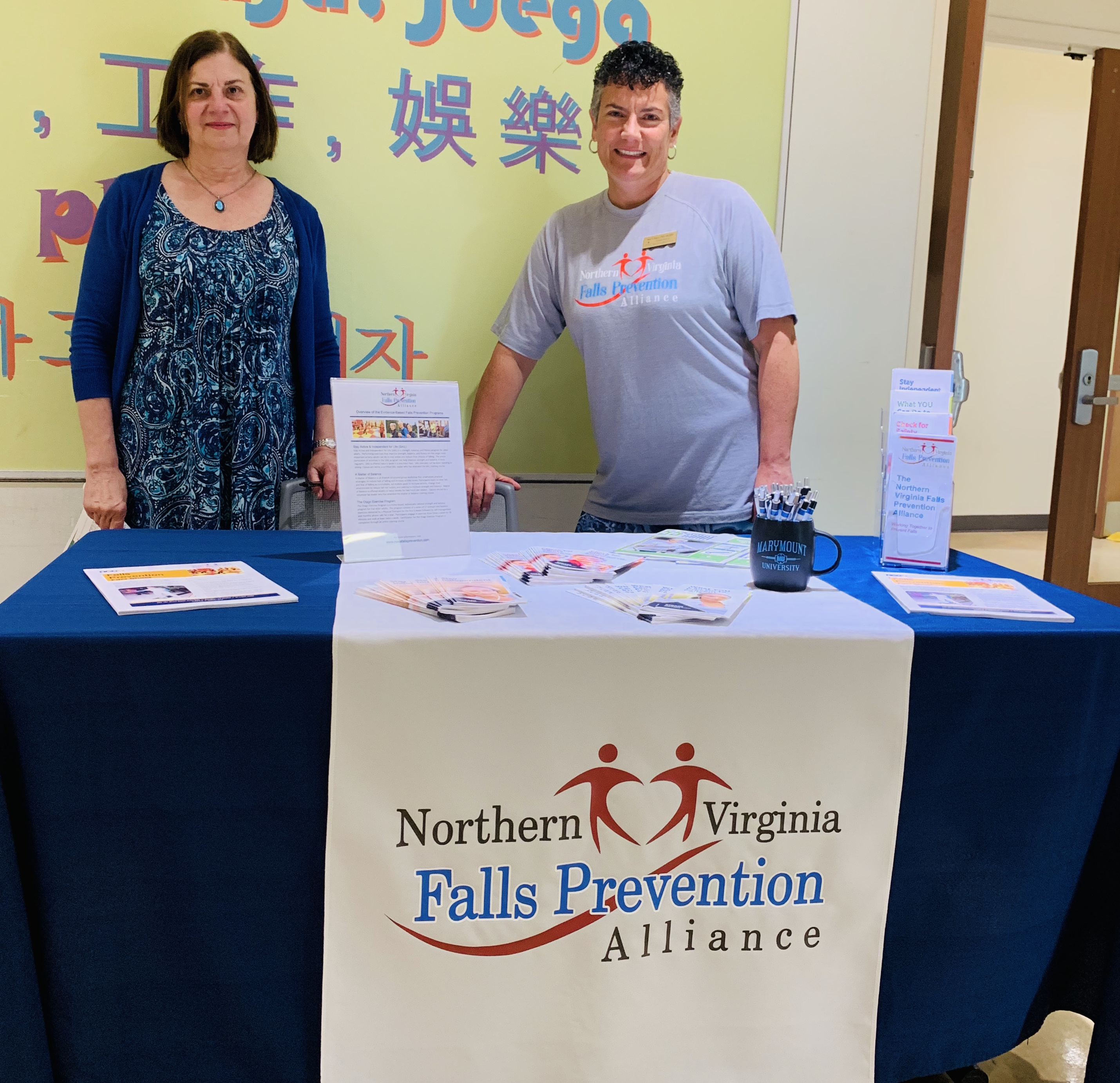 Northern Virginia Falls Prevention Alliance information table