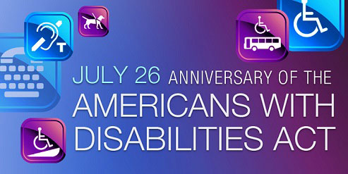 Image celebrating the 27th anniversary of the Americans with Disabilities Act