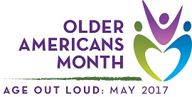 Logo for Older Americans Month 2017