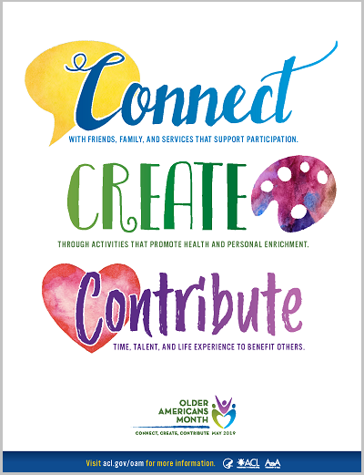 OAM Connect, Create, Contribute Poster