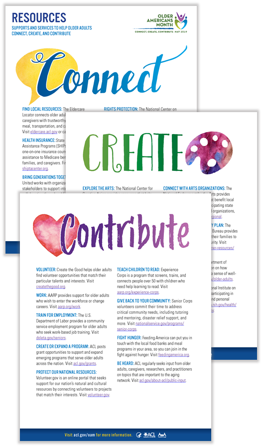 Three-page resources handout