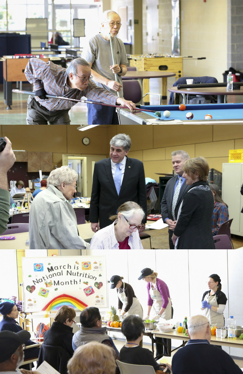 Various activities at the Walter Reed Center