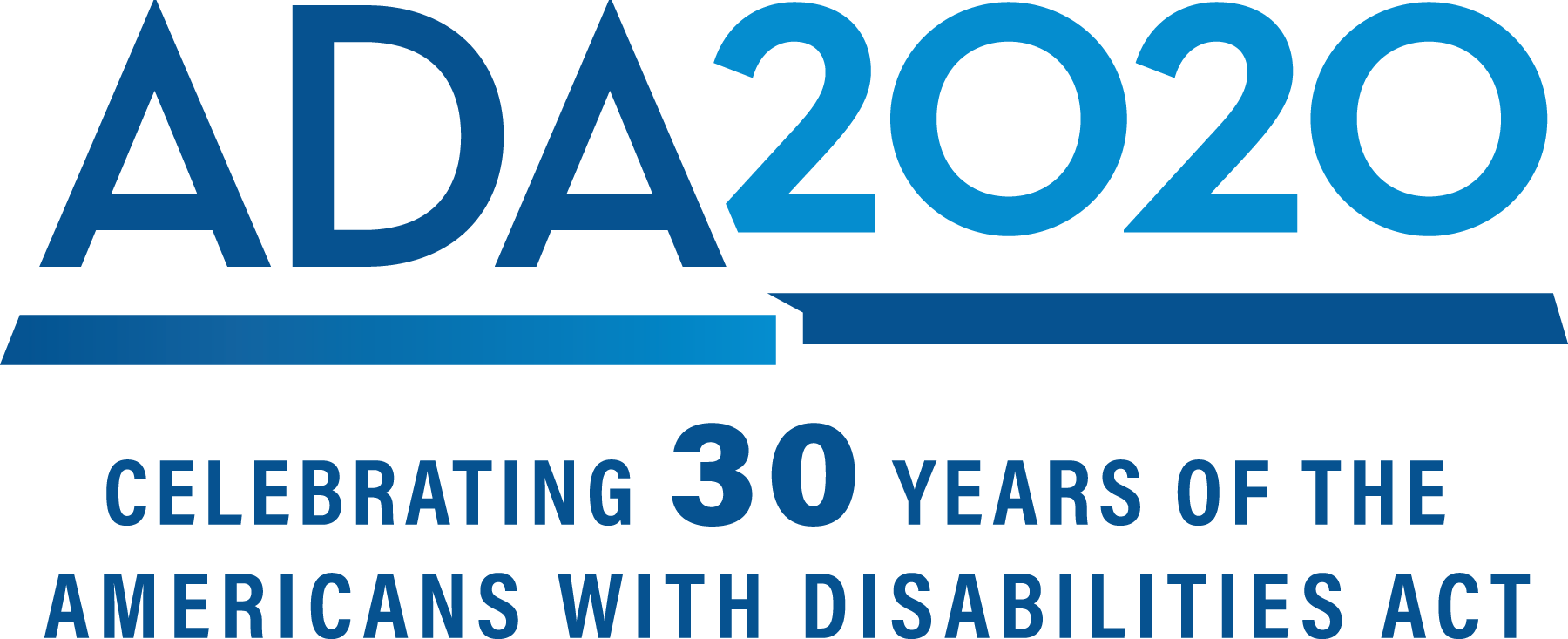 ADA 2020 Celebrating 30 years of the Americans with Disabilities Act logo