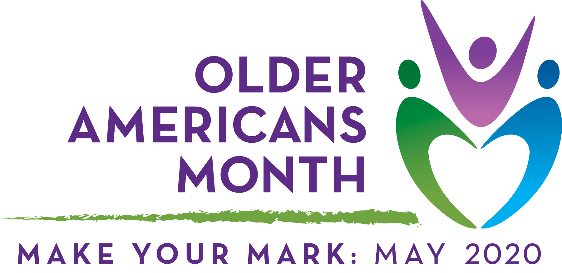 Older Americans Month 2020 logo: Make Your Mark